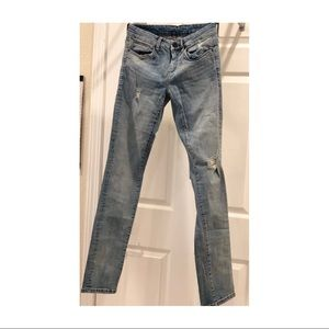 blanknyc distressed straight-leg jeans